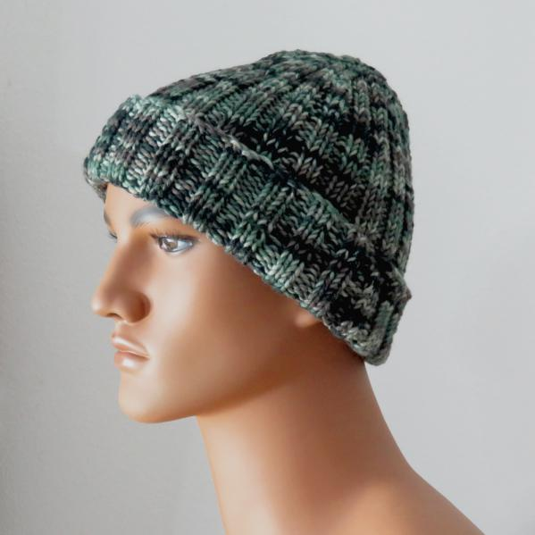 Camouflage Ribbed Hat knitting pattern