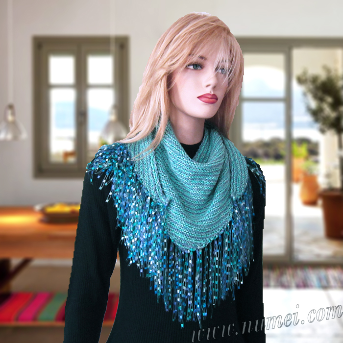 Free Knitting Pattern Adelina Triangle Scarf Kerchief