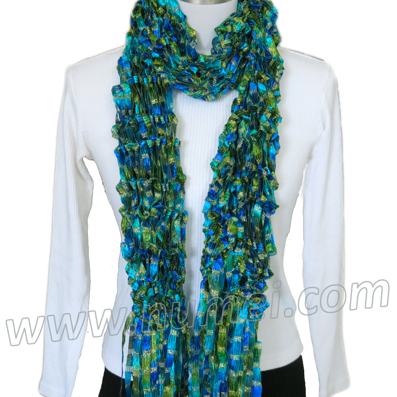 Knitting Pattern Ribbon Yarn Scarf : Free Knitting Pattern: Adeline Drop Stitch Ribbon Scarf