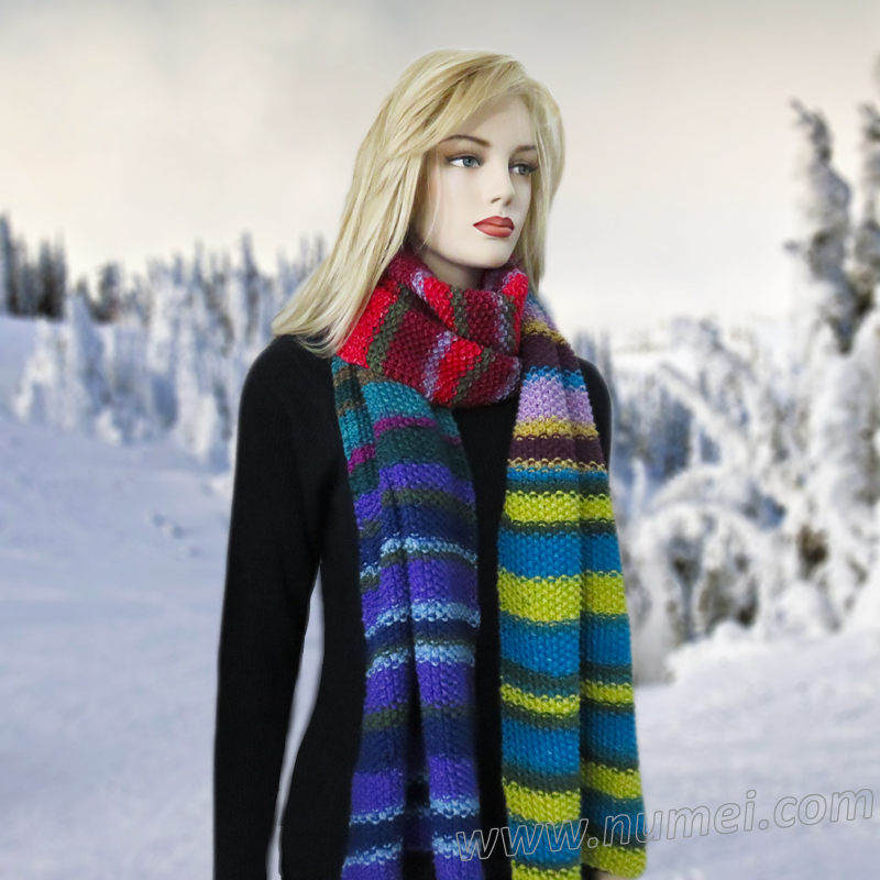 Free knitting pattern aztec super scarf and shawl dt1010fo