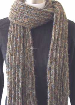 Knitting Patterns Scarf Size 19 Needles : Free Knitting Pattern: Ribbed Scarf