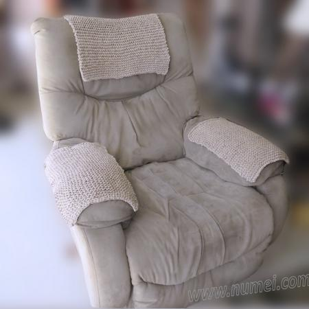 Free Knitting Pattern: Armchair Armrest and Headrest Covers