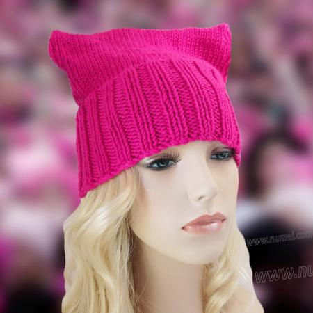 Cat Ears Hat Knitting Pattern - Pattern 1