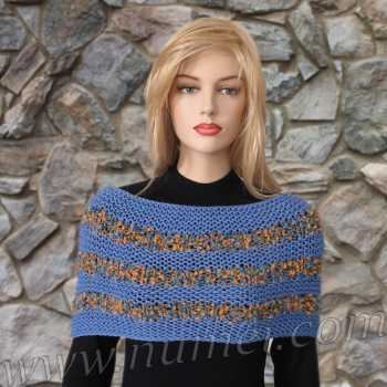 Free Knitting Pattern Alison Cowl / Shoulder Wrap