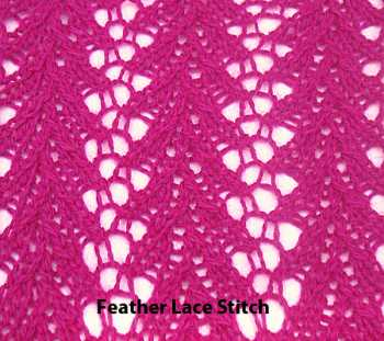 Free Knitting Pattern 3 Lace Stitches For Scarf/Shawl
