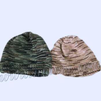 Free Knitting Pattern Camouflage Hat (Beanie Version)