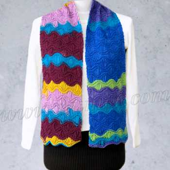 Free Knitting Pattern Pacifica Scarf