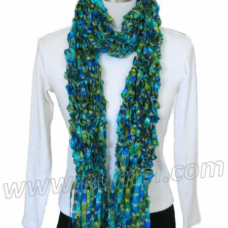Free Knitting Pattern: Adeline Drop Stitch Ribbon Scarf