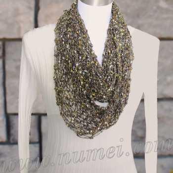 Free Knitting Pattern Amuri Infinity Scarf