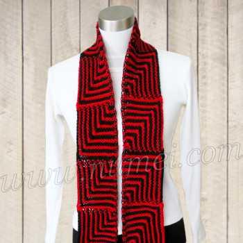 Free Knitting Pattern Scarlett Skinny Mitered Scarf