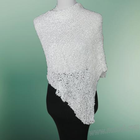 Free Knitting Pattern: Georgia Wedding Shawl, Bridal Wrap, Summer Shawl