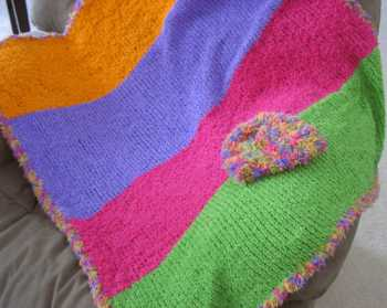 Free Knitting Pattern Bright Baby Blanket