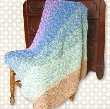 Free Knitting Pattern Cascading Colors Baby Blanket