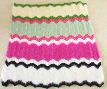Free Knitting Pattern Easter Baby Blanket