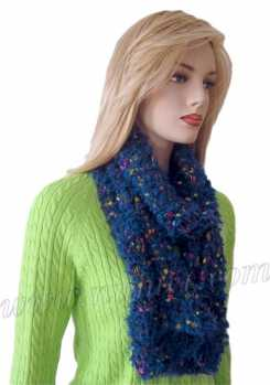 Knitting Patterns Scarf Size 19 Needles : Free Knitting Pattern: Ellie Scarf