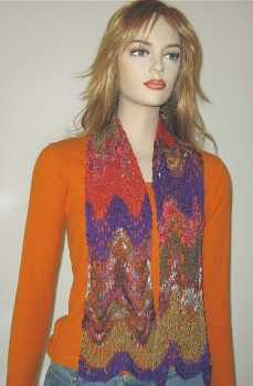 Free Knitting Pattern Catena Ripple Scarf