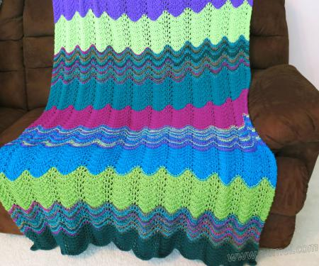 Free Knitting Pattern: Michelle Wavy Ripple Afghan Throw