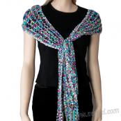 Free Knitting Pattern: CRISTALES Ribbon and Ladder Yarn Scarf