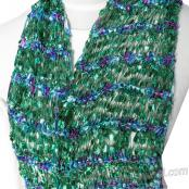 Free Knitting Pattern: SHIMMERS Ribbon and Ladder Yarn Scarf