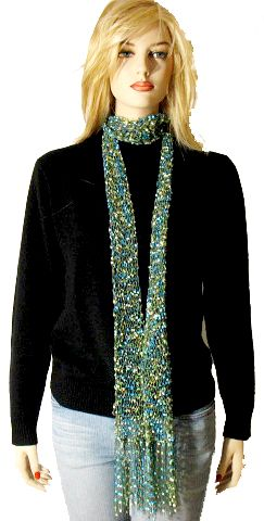 Knitting Patterns For Scarves With Thin Yarn : Free Knitting Pattern: Kate Skinny Scarf