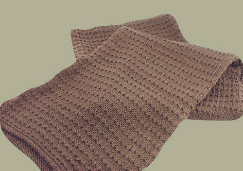 Mens Knit Patterns : Free Knitting Pattern: Justin Scarf - handsome scarf for men