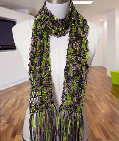 Free Knitting Pattern Laurel Drop Stitch Scarf