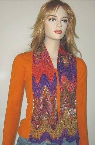 Free Knitting Pattern Catena Ripple Scarf