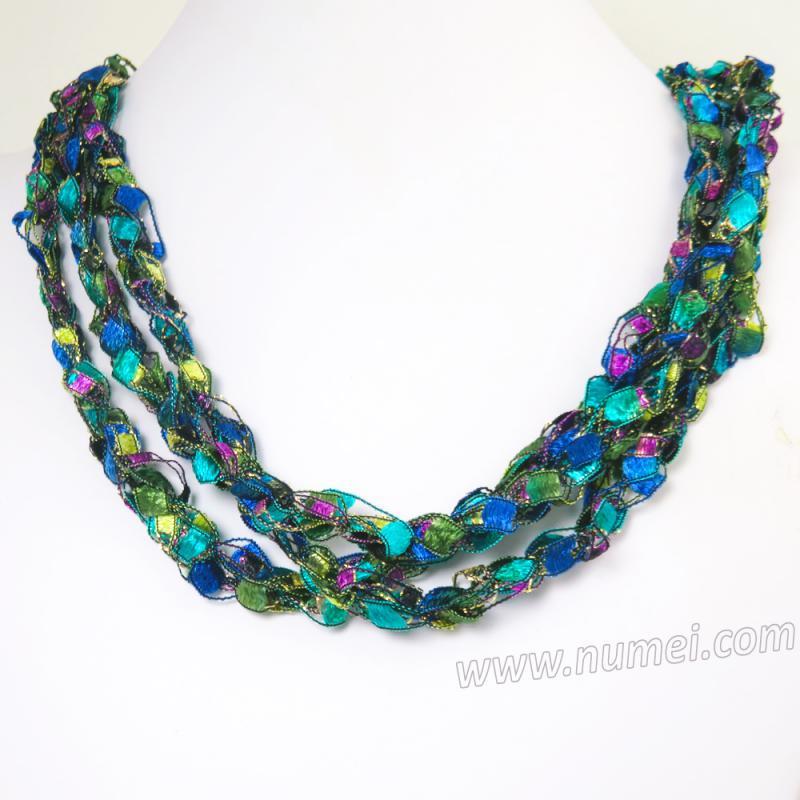 Handmade Ribbon Necklace EG84107