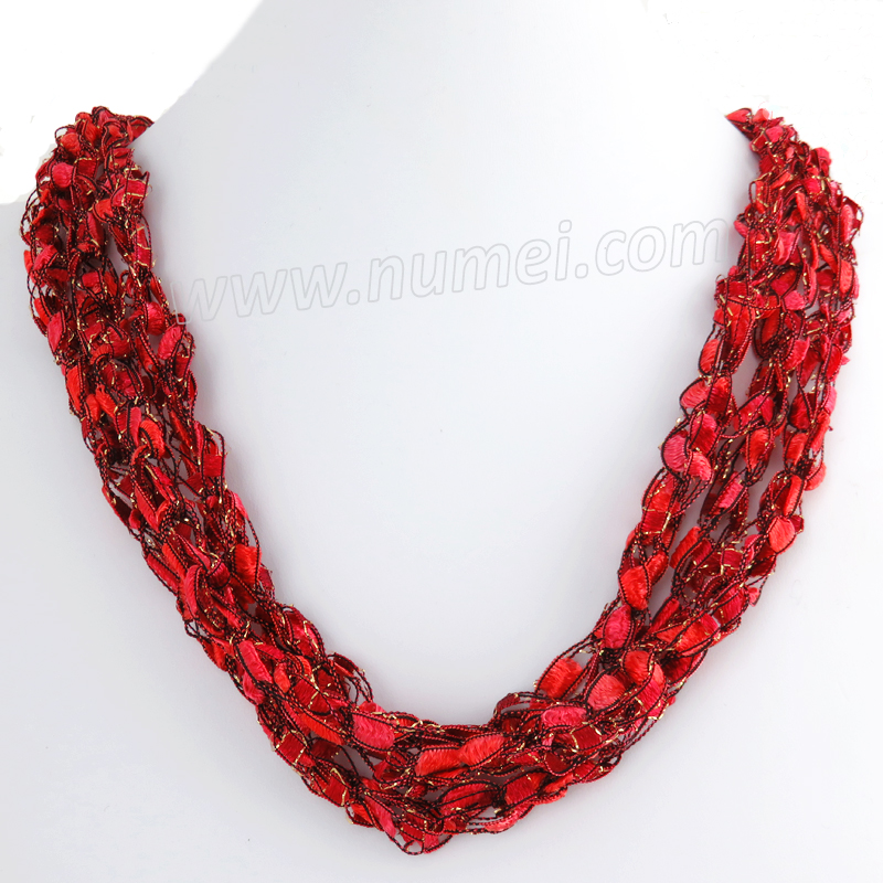 Handmade Ribbon Necklace MG4242
