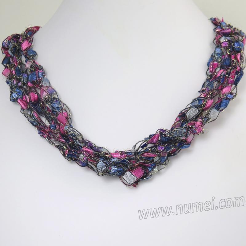 Handmade Ribbon Necklace MG7272