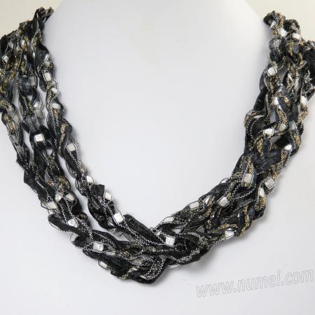 Handmade Ribbon Necklace BK1