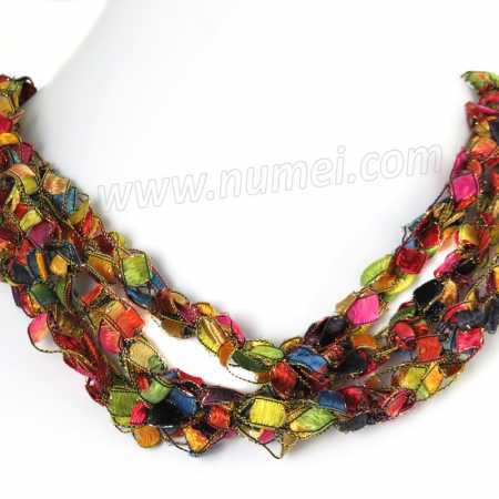 Handmade Ribbon Necklace EE8596