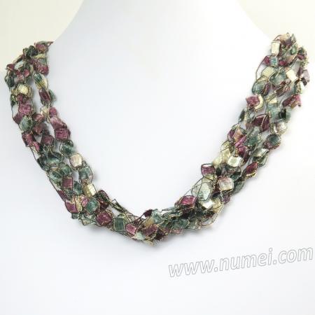 Handmade Ribbon Necklace ET1220