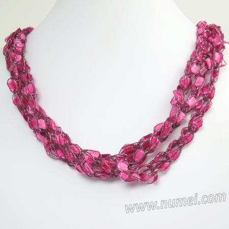 Handmade Ribbon Necklace ET12700