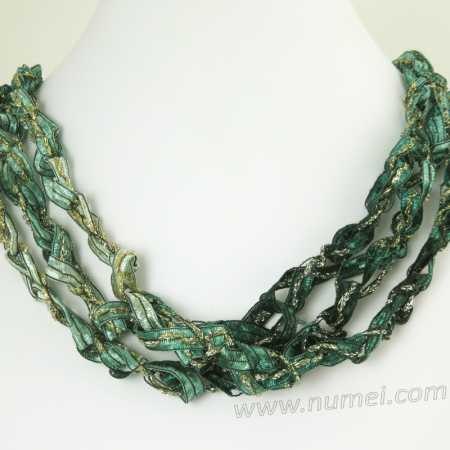 Handmade Ribbon Necklace GR5