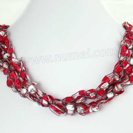 Handmade Ribbon Necklace ME42100