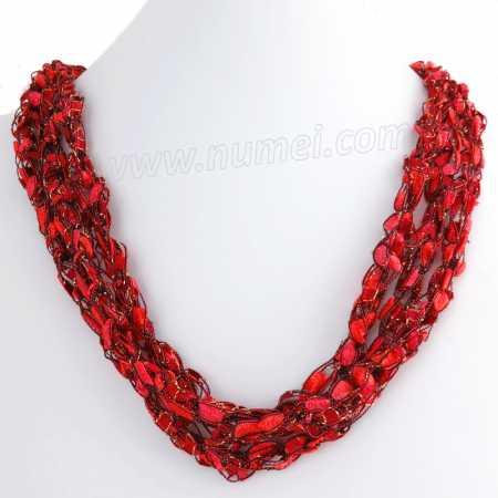 Handmade Ribbon Necklace MG4242