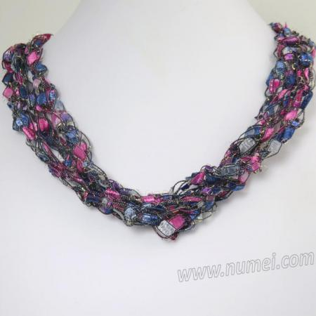 Handmade Ribbon Necklace MG7272