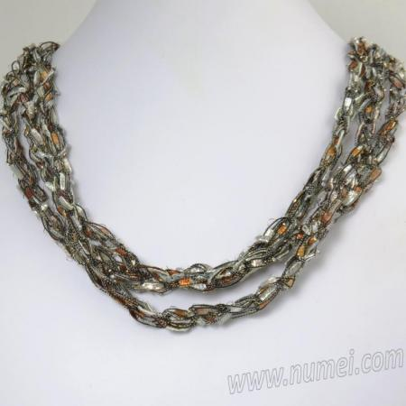 Handmade Ribbon Necklace MG7476