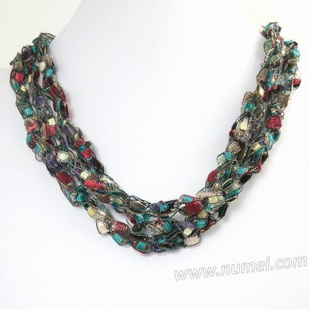 Handmade Ribbon Necklace MG8168