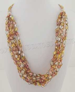 Image Of Trellis Ribbon Yarn Necklace Pattern how to make a