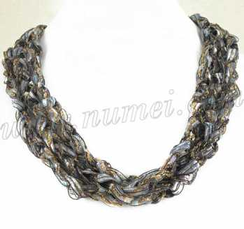 Handmade Ribbon Necklace BL4