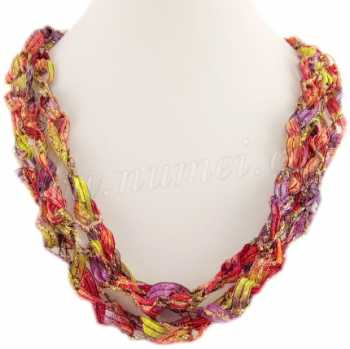 Handmade Ribbon Necklace CC2