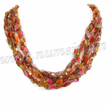 Handmade Ribbon Necklace EG8591