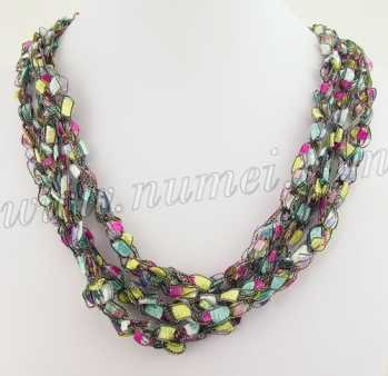 Handmade Ribbon Necklace MG6983