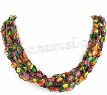 Handmade Ribbon Necklace MG7375