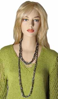 Free Crochet Pattern Ladder Ribbon Necklace Pattern 5