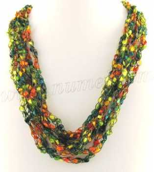 Free Crochet Pattern Ladder Ribbon Necklace Pattern 1