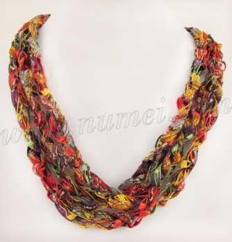 Handmade Ribbon Necklace PU3