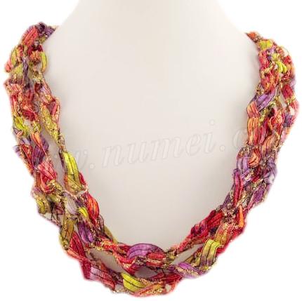 Handmade Ribbon Necklace CC2